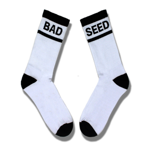 BAD SEED WHITE & BLACK TUBE SOCKS SET