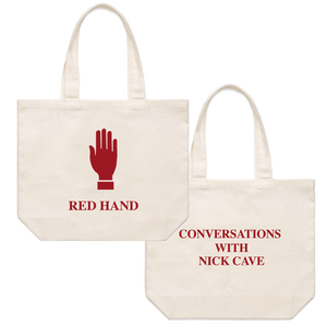 Red Hand Tote Bag