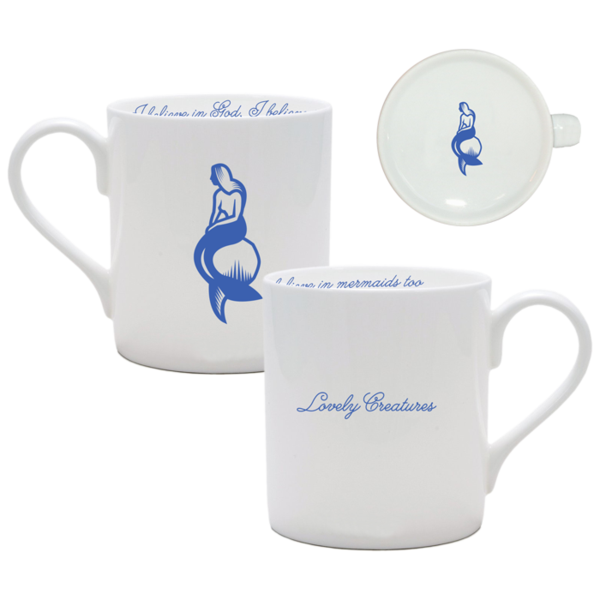 MERMAID WHITE CHINA MUG