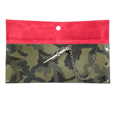 Green Camo Dagger Clutch