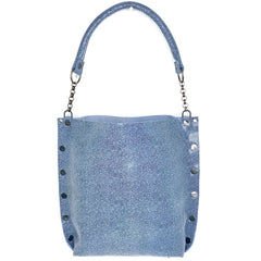 Blue Suede Stingray Print Tote