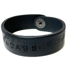 BADASS Monogram Bracelet - Distressed Black