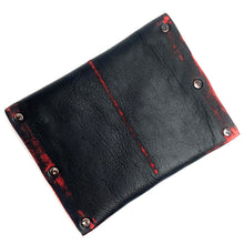 Black & Red Leather Snap Wallet