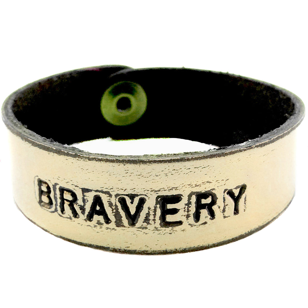 BRAVERY Monogram Bracelet- Off White