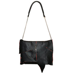 "Black & Red Collection Messenger ""Jessica"" Bag"