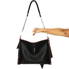 Black & Red Jessica Bag