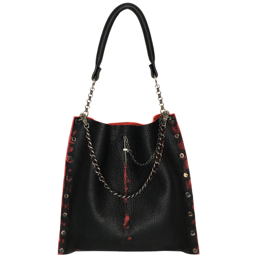 Black & Red Collection Oversized Tote Bag