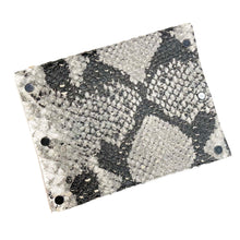 Black/White Snakeprint Leather Snap Wallet