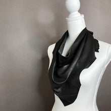 Chic Black Leather Scarf