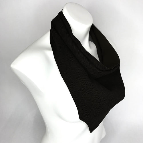 Black Leather Scarf #1