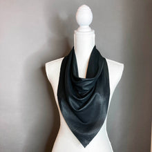 Black Perforated Leather Scarf - Jake