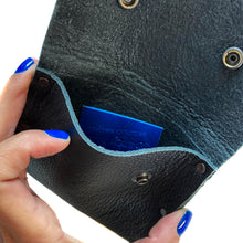 Black Pebbled Leather Snap Wallet