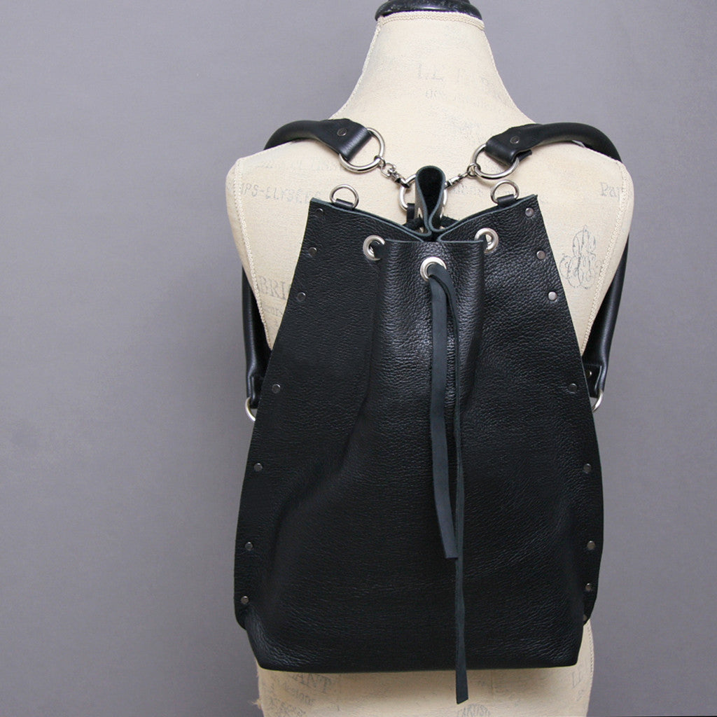 Black Convertible Backpack