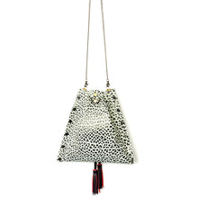 Black & White Drawstring Crossbody Bag - available upon request