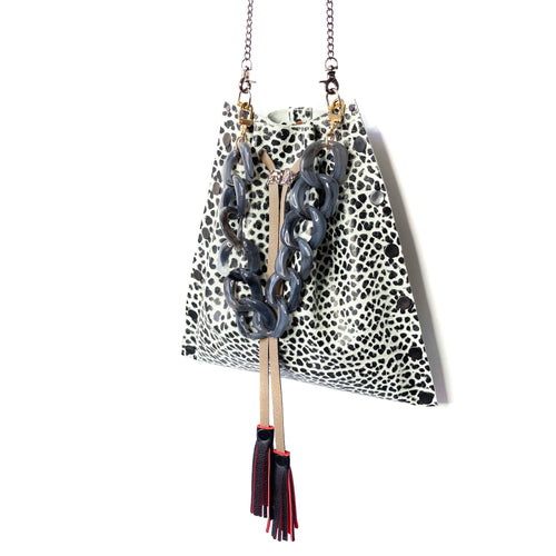 Black & White Drawstring Bag