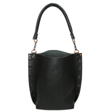 Classic Black Tote Bag // Mixed Metal