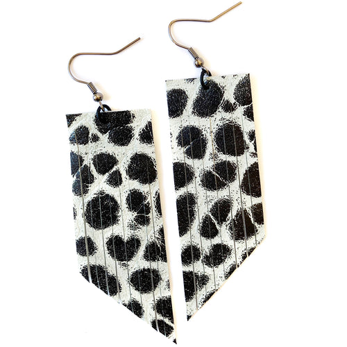 Black & White Fringe Earrings
