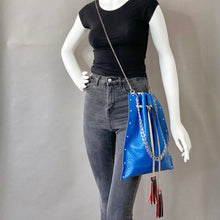 Blue Drawstring Crossbody Bag 1 of 1