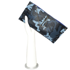 Blue Camo Dagger Clutch
