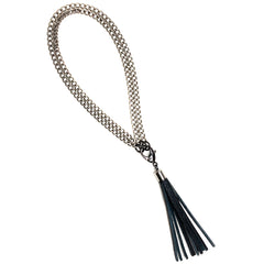 3-in-1 Tassel Necklace © Brushed Silver