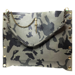 Camo Grey Dagger Tote Bag