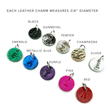 Leather Charm Necklace - 2 Charms