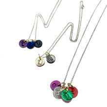 Leather Charm Necklace - 3 Charms