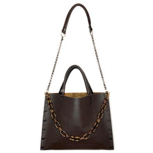 Chocolate Leather Michelle Bag (with optional Acrylic Chain)