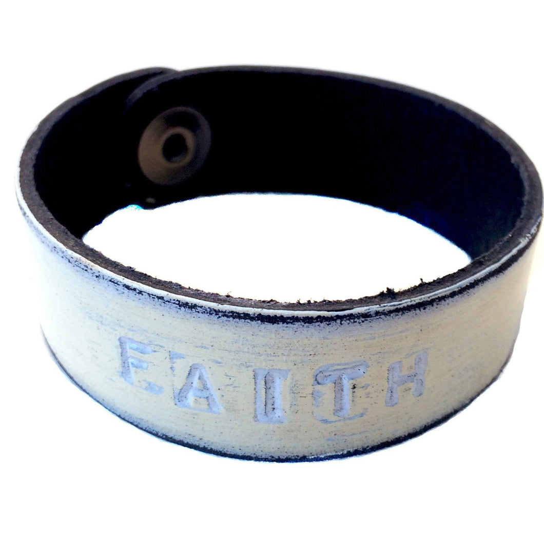 FAITH Monogram Bracelet - white wash