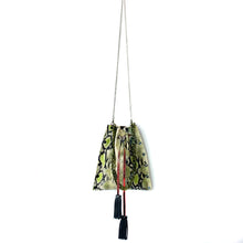 Green Snake Rock N Roll Drawstring Crossbody Bag