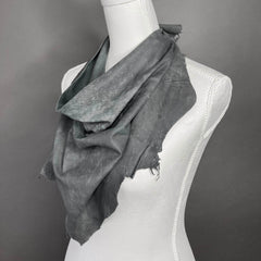 Gemma Grey Leather Scarf