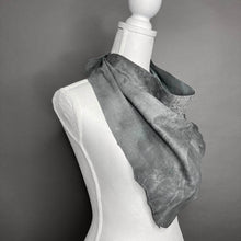 Jesse Grey Leather Scarf