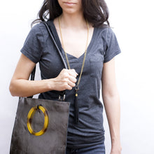 Metallic Gunmetal Tote & Laptop Carrier
