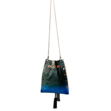 Hunter Green Ombre Drawstring Crossbody Bag