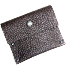 Chocolate Brown Pebbled Leather Snap Wallet