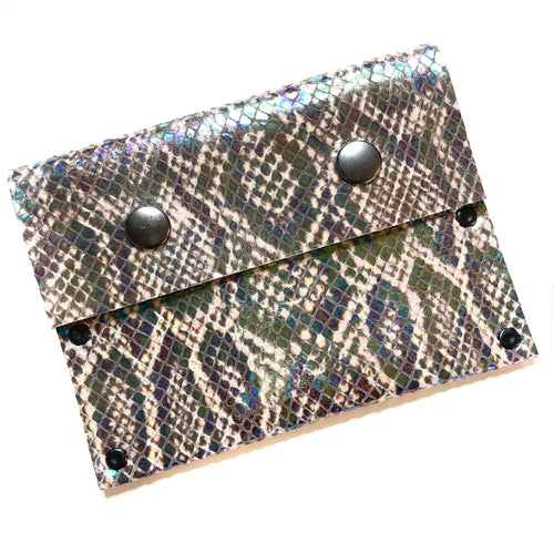 Iridescent Snakeprint Snap Wallet (1 of 1)