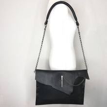 """Jessica"" Black Large Crossbody Handbag"