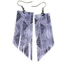 Lavender Aztec Fringe Earrings