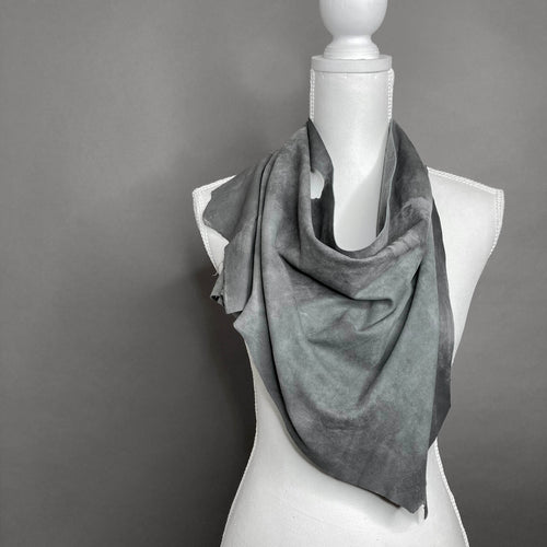 Penelope Grey Leather Scarf