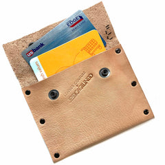 Nude Leather Snap Wallet
