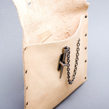 Nude Dagger Clutch- gunmetal- AVAIL AFTER QUARANTINE