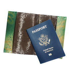 Graffiti Painted leather Passport Cover