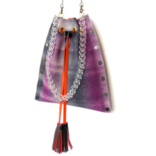 Pink & Purple Ombre Drawstring Crossbody Bag