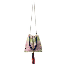 Pink & Green Snakeprint Drawstring Crossbody Bag 1 of 1