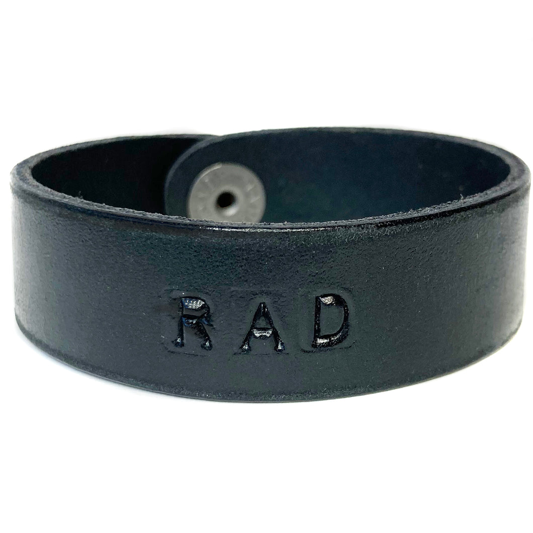RAD Monogram Bracelet - Distressed Black