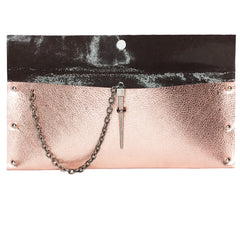 Rose Gold Metallic Dagger Clutch