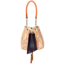 Rosey Leather Fringe Tote