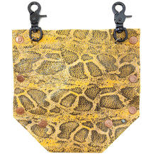 Yellow Snakeprint Convertible Fanny Pack