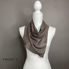 Taupe Leather Scarf