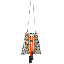 White Snake Drawstring Crossbody Bag
